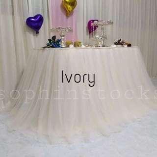 Tutu table skirt