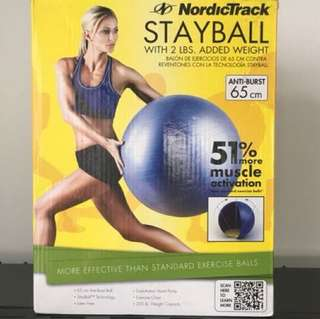 NordicTrack Stayball with 2 lbs added weight