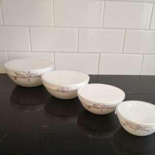 Ceramic floral ceramic container