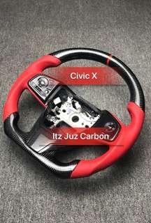 Honda Civic X Carbon Steering