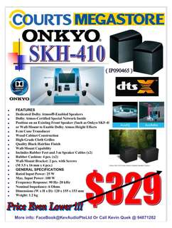 ONKYO SKH-410 ( Dolby Enabled Speakers ) @ $279