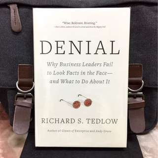 # Highly Recommended《Bran-New + Hardcover Edition + Why Smart Leaders Unwillingly Facing The Harsh Facts & Act Dumb》Richard S. Tedlow - DENIAL : Why Business Leaders Fail to Look Facts in the Face-And What to Do about It