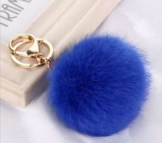 Furball Keychain - Blue or White
