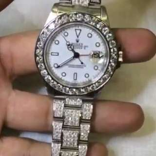 Jam tangan rolex original full berlian