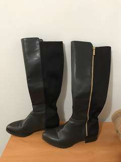Nine West Black Tall Boots Size 8
