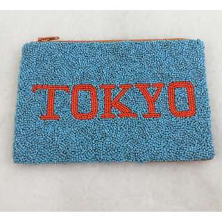 BN Beautiful Hand Beaded Handcrafted Tokyo Zipper Pouch