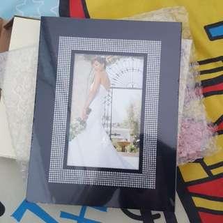 Crystals photo frames