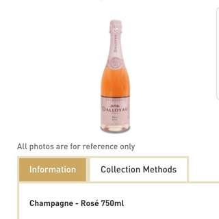 Dallayou Champagne Rose 750ml (original $688)
