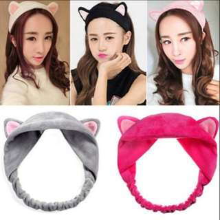 Cute Korean Bunny Cat Ear Hairband Hair Accessories Heandbands Make up Tools