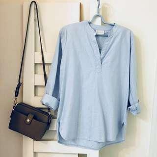 【衣服】MEIER.Q 藍色牛仔襯衫👕