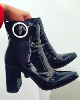 H&M Ankle Boots With Buckles