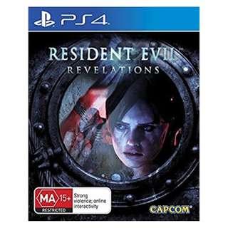 (Brand New Sealed) PS4 Game Resident Evil Revelations
