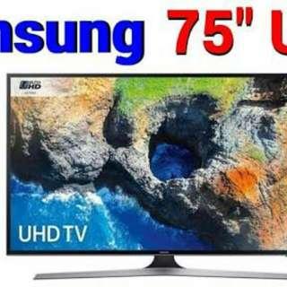 Samsung 75-Inch MU6100 HDR Smart