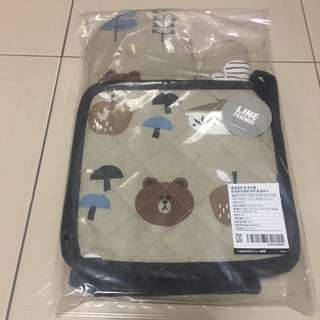 Line friends official oven hand gloves limited edition