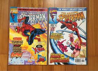 My son's collection - spider man - 6 books ( all in good condition )Including Spider-Man and Generation X, Electron and also 'Spider-Man made Men' . These are issues in demand