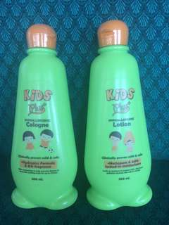 Kids plus hypoallergenic lotion and cologne