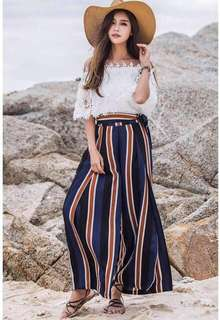 Stripes side alit cullotes