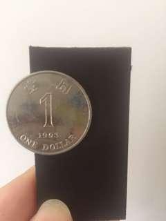 絕版香港 1993 壹元硬幣