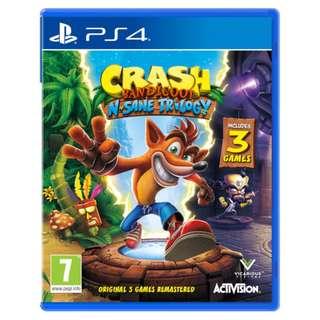 (Brand New Sealed) PS4 Game Crash Bandicoot
