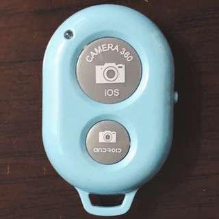 藍牙自拍遙控器 Bluetooth remote 藍色 blue
