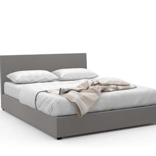 Queen Storage Bed Frame (Fabric Grey)