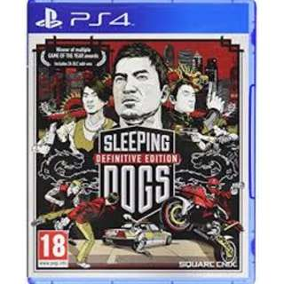 (Brand New Sealed) PS4 Game Sleeping Dogs