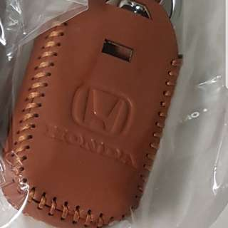 Brown Honda car key holder