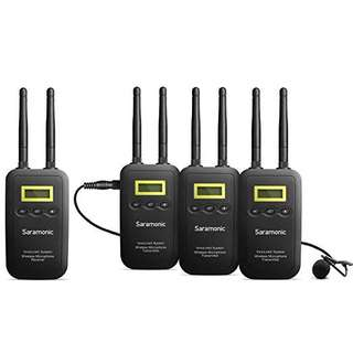 Saramonic VmicLink5 (3TX + RX) 5.8GHz Wireless Microphone Package