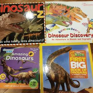 Dinosaur Books for Children (Only left with Dinosaur Discovery $1 and Amazing Dinosaurs $3 - hard cover)