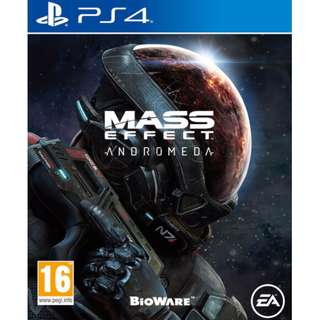 (Brand New Sealed) PS4 Game Mass Effect Andromeda