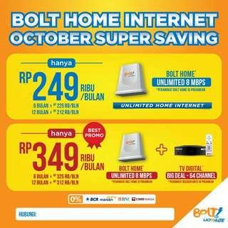 Wifi Internet Unlimeted Bolt Free Instalasi