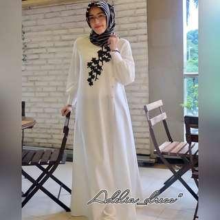 FF - 0318 - Dress Gamis Busana Muslim Wanita Adelia Maxy
