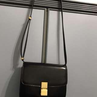 Celine box bag black