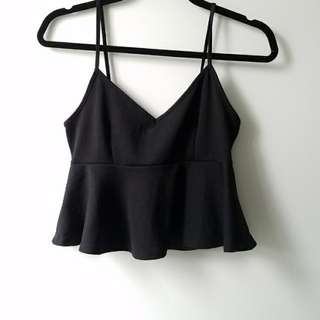 Flared Crop Top (Size S)