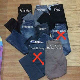 Branded Denim Pants