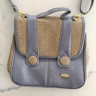 Lavender Messenger Bag with Adjustable Straps