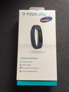 Fitbit Alta, Fitness Wristband, Stainless Steel Tracker Blue Band (S size)
