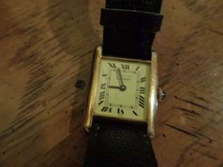 Vintage Cartier 卡地亞 925 manual wind watch