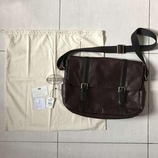 Tas Fossil Original Estate EW Messenger Bag Dark Brown