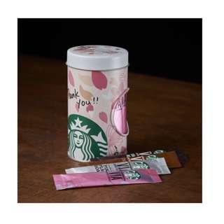 日本Starbucks 2018 櫻花版咖啡鐵罐連20 coffee sticks