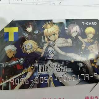 Fate grand order fgo t point card japan