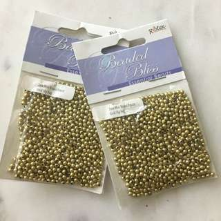2mm gold mini beads