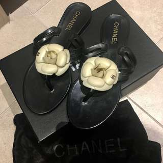 Chanel Camellia slippers sandals