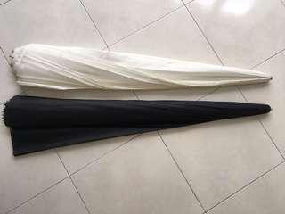 185cm Silver and Shoot Through Parabolic Umbrella