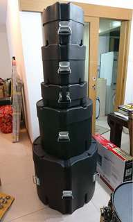 Elite Air Series Drum Hard Cases Set