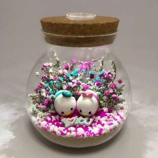 Last set - Dry Flower Terrarium - TsumTsum Donald Daisy with baby breath