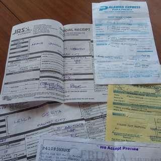Receipts as Proof of Legitimacy