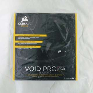 CORSAIR VOID PRO RGB Wireless Gaming Headset with DOLBY HEADPHONE 7.1 Surround Sound for PC PUBG 食雞