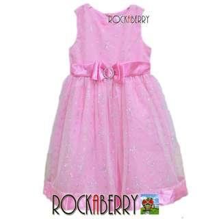 Camilla Light Pink Glitter Girl's Dress