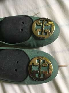Authentic Tory Burch Reva Flats Green